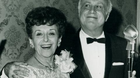 Herman Yablokoff with wife Bella Meisel