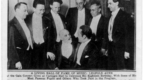A Living Hall of Fame of Music: Leopold Auer