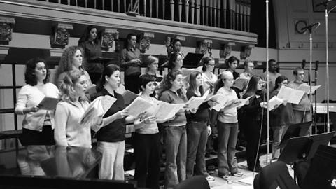 Members of the University of Michigan Opera Chorus