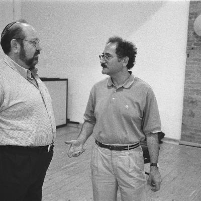 Cantor Alberto Mizrahi and Neil Levin