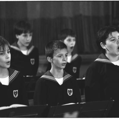 Members of the Vienna Boys Choir