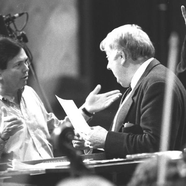 Gerard Schwarz & member of the Czech Philharmonic Orchestra
