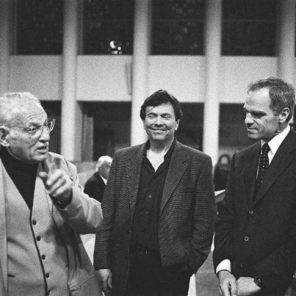 Herman Berlinski, Gerard Schwarz, Richard Sandler & Lowell Milken