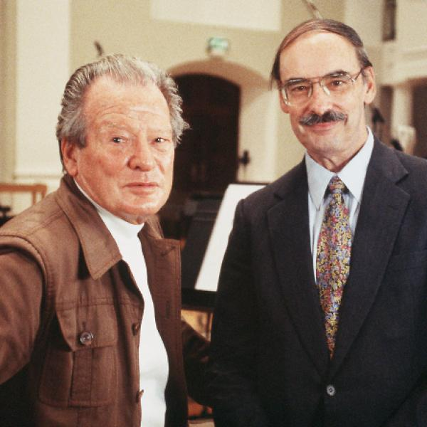 Sir Neville Marriner and composer Thomas Beveridge