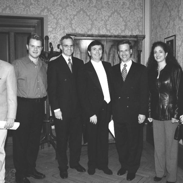 Richard Clement, Ted Christopher, Richard Sandler, Gerard Schwarz, Lowell Milken, Elizabeth Shammash & Carol Meyer